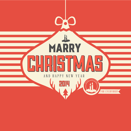 mas:  Vintage styled Christmas Card - Set of calligraphic and typographic elements