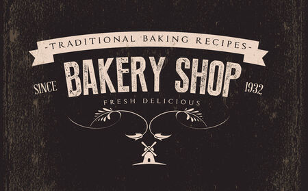 Vintage Retro Bakery Label Illustration