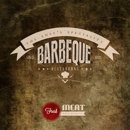 Barbeque label Vector