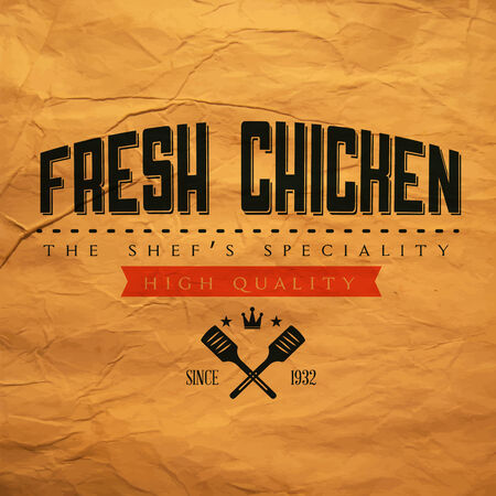 roast chicken: Fresh Chicken label