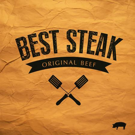 Best Steak label Illustration