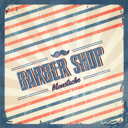 barbershop pole: Retro Barber Shop - Vintage style