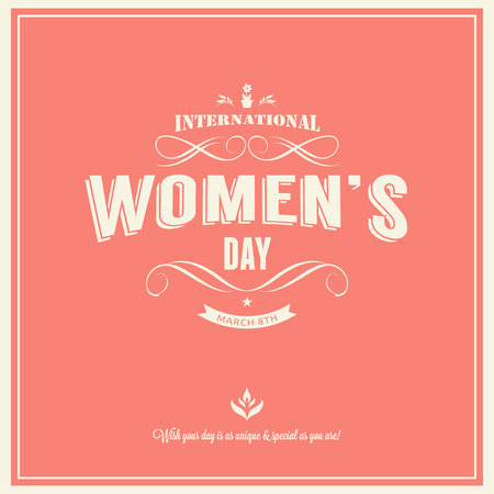 8 march women day with vintage background Vector