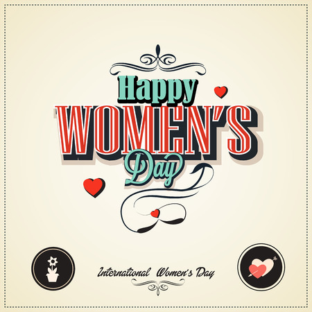 8 march woman s day with vintage stly