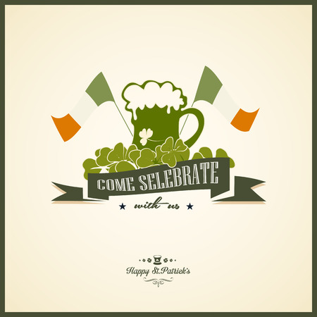 green beer: Typographic Saint Patricks Day Design