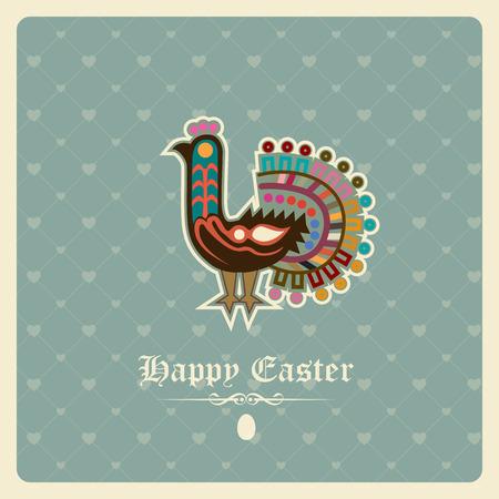 Easter greeting card Illustration