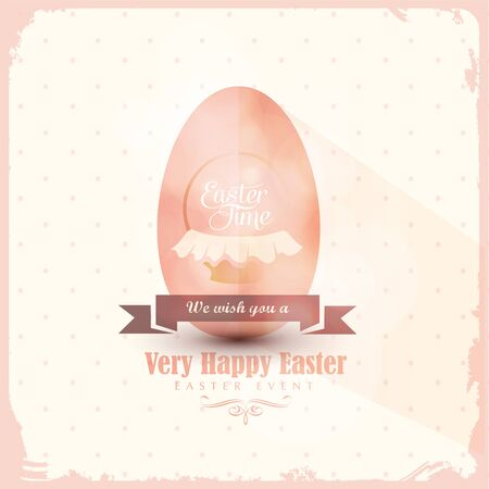 Happy Easter Card Greeting Card with egg Illustration