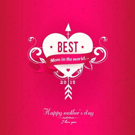 Pink  Mothers Illustration