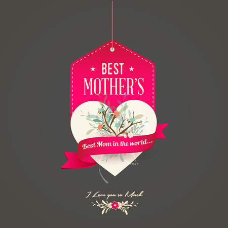 Happy Mothers Illustration