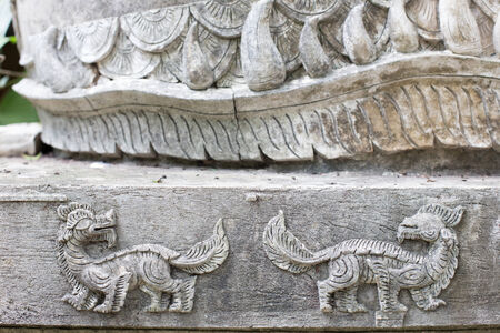 The White stucco , thai style   photo