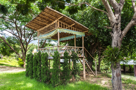 a little hut in the jungle photo