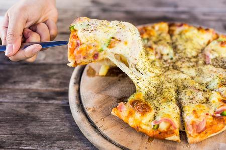 Hawaiian style pizza. photo