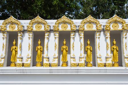 Buddha gold statue. photo
