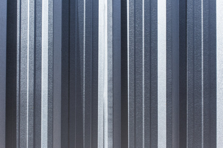 Corrugated zinc metal texture may be used as background. photo