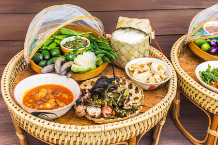 particularly: Kantoke, traditionally meal set was popular in North of Thailand, particularly Chiang Mai