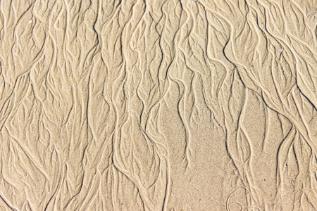 closeup of sand pattern of a beach in the summer. photo