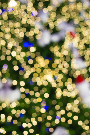 Defocused abstract bokeh lights christmas background. photo