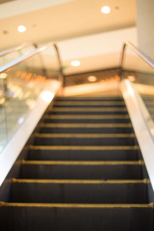 defocus: blur Escalator, defocus. Stock Photo