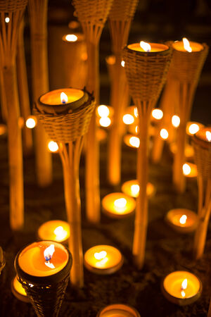 time to shine: candlelight Stock Photo