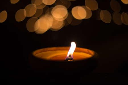 velas de navidad: luz de una vela