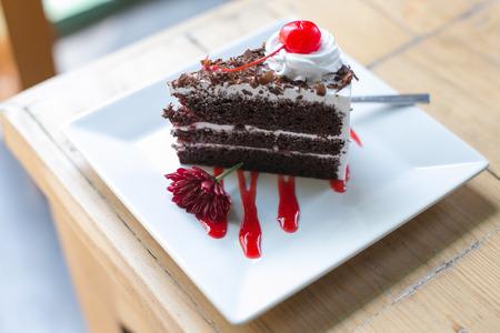 Black forest cake. photo