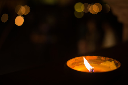 candle light with bokeh, hope concept. Stok Fotoğraf