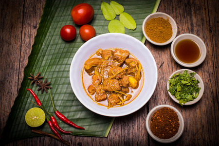 ケーンコイ ハング レイ武 (豚肉のカレー) 北部タイ料理 写真素材