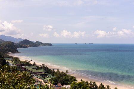 chand: Bird eye view of Beach Koh Chand Trat Thailand. Stock Photo