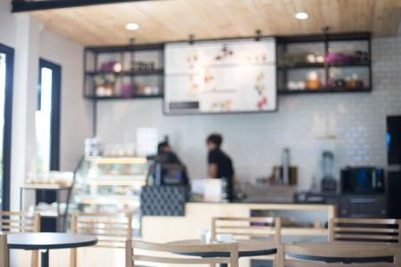 tiendas de comida: Restaurante café enmascarada con el fondo bokeh