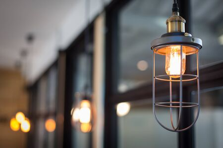 tungsten: Round glowing tungsten lamp.