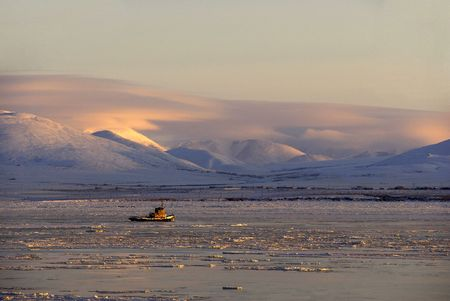 ices: Tugboat makes the way through chukchi ices