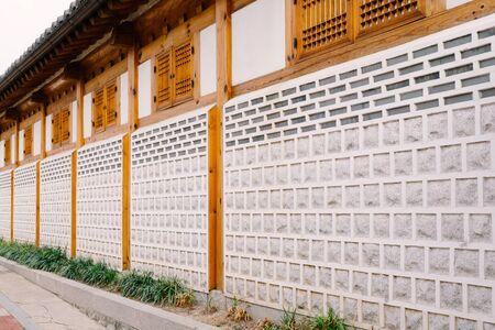 Traditional Wall, Seoul, South Korea Stock Photo