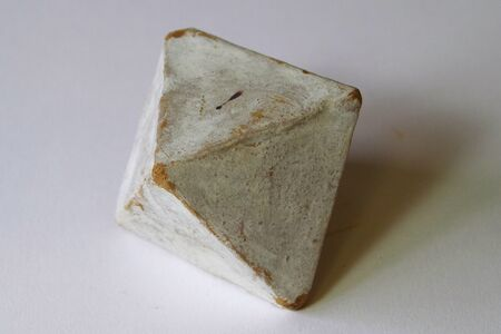 white octahedron antique look