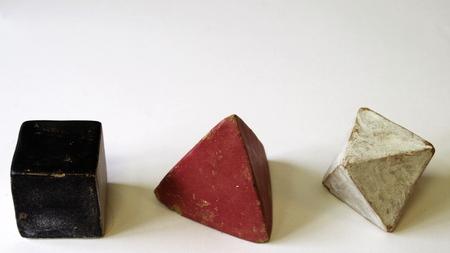 cube tétraèdre octaèdre organismes platoniques art-thérapie Banque d'images