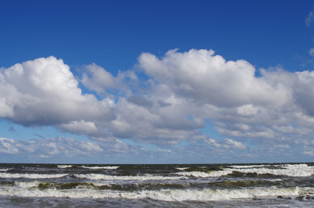 gusty: Baltic Sea in storm