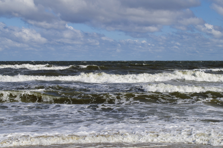 baltic: Baltic Sea in storm