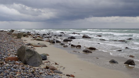 Northern beach on the island of R?gen on the Baltic Sea