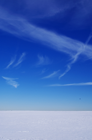Snow and blue sky