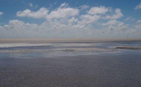 westerhever: Watt in the Wattenmeer national park of the North Sea near Westerhever