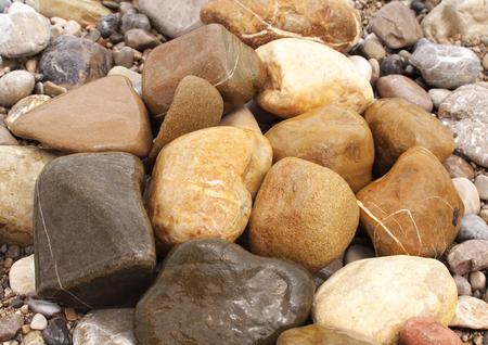 Braune Steine ? ? Sandstein Standard-Bild - 92357727