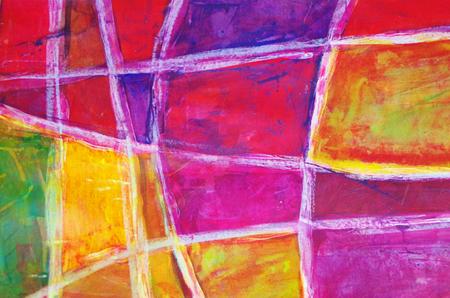 Abstrakte Malerei mit Acrylfarben Standard-Bild - 98422324