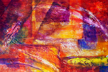 Abstrakte Malerei mit Acrylfarben Standard-Bild - 98422331