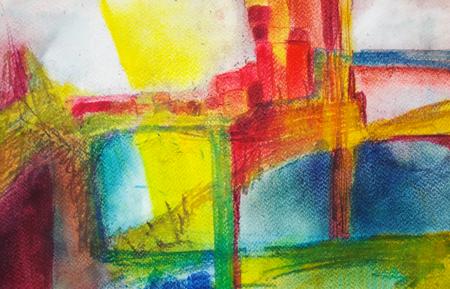 Abstrakte Malerei mit Acrylfarben Standard-Bild - 98422334