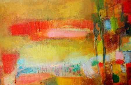 Abstrakte Malerei mit Acrylfarben Standard-Bild - 98422338