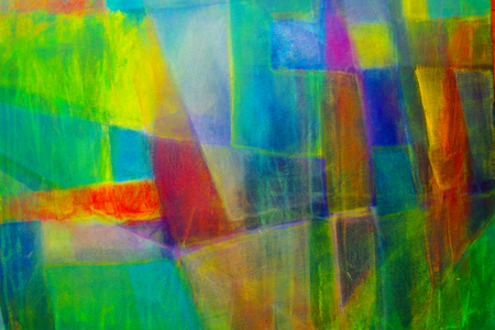 Abstrakte Malerei mit Acrylfarben Standard-Bild - 98422339