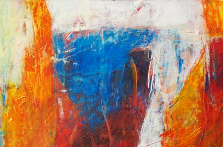 Abstrakte Malerei mit Acrylfarben Standard-Bild - 98422340