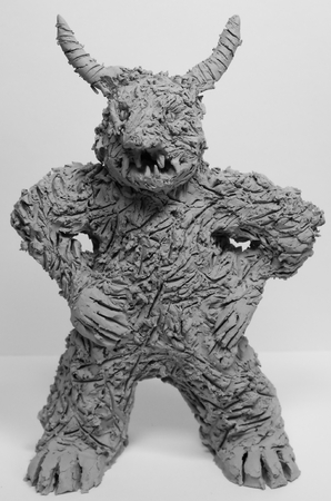 Anger figure made of clay from art therapy Standard-Bild - 98961530
