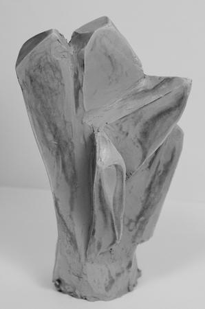 Crystal Skulptur aus Ton Standard-Bild - 98922713