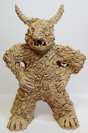 Anger figure made of clay from art therapy Standard-Bild - 98905114