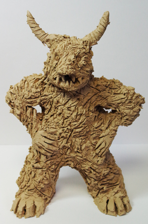 Anger figure made of clay from art therapy Standard-Bild - 98905115